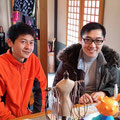 2014.3.15 東京からのボランティアの井上さんと、香港から来られた記者のスタンリー!日本がとってもお好きだそうで、知識の深さに脱帽でした!!