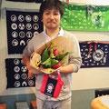 2014.7.29 いつもセンスのいいお花を届けてくれる花久さん♪ふかひれちゃんの集金袋超可愛いです♡♡