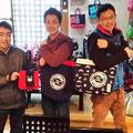 2014.4.14 佐賀市役所から出向してきた九州男児の3人組!GANBAAREの商品で男らしさもUP!是非またご来店ください!