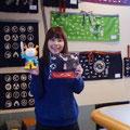 2013.11.14 佐賀出身のかわいらしいお客様。お気に入りのホヤぼーやとパチリ!ありがとうございました!