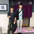 2014.10.25 GANBAAREの染めのデザインをお願いしている佐々木さんと、お友達の武田さんがご来店!これからもGANBAAREをよろしくお願いします♡