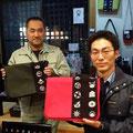 2014.11.23 東京町田市役所から気仙沼市役所に応援いただいている浜名さんと神保さん!オーダーバッグとっても良くお似合いです♡ありがとうございました!
