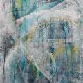 Kritzung I, Acryl/Lw., 100x80 cm, 2014 (1404)