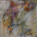 Spuren III, Acryl, Kreide auf Lw., 40x40 cm, 2014 (1407)