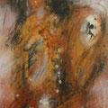 Geflecht I, Acryl, Tusche, Kreide auf Lw., 90x30 cm, 2012 (1206)