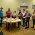 Bordesholmer Landfrauen; Basteln mit Büchern im Oktober 2018