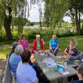 Bordesholmer LandFrauen, Einweihung der Sitzgruppe in Mühbrook im August 2021