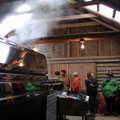 Touring the Sugar Shack at SMF. Sugaring in process. Photo by: Rachael McLean