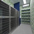 犬舎 冷暖房完備 監視システム導入により診察中や自宅でも動物たちの状態をモニターできます