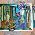 Фрагмент живописно-рельефной  композиции в холле больницы г. Дмитрова, 2002, смешанная техника
