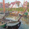 """Яхты в Нордзее"", 2000 ,х.м, 50х40."