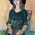 """""""Девушка в шляпе"""" 2001, к.т., 85х55"""