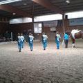 M-Gruppe Bad Ems 1 mit Longenführerin Heide Pozepnia und Pferd Lucky Frederic beim Grüßen