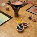Malen mit flanzenfarben