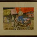 冨岡一郎:絨毯を運ぶウイグルの姉弟