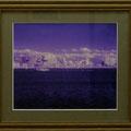 竹田辰興:輝く街(水戸市千波湖から、赤外線写真)