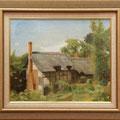 畑聡子:イギリスの田舎家(油彩、F8)