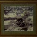 竹田辰興:宇土櫓(熊本城天守閣から、赤外線写真)