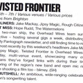 Preview of Twisted Frontier 2012 for The Brighton SOURCE, June 2012. Written by Stu Huggett.