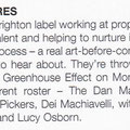 Brighton SOURCE - October 2009. Article by Stu Huggett.