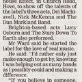 Interview with Richard Ward on Overhead Wires for The Argus, October 2009. Written by Juanita Ransom.