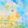 桂 聖子 「赤ちゃんを届けるコウノトリ」