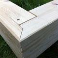 Holzverbindung Verdecktes Gerades Eckblatt