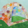cat tent 130.3cmx162cm oil on canvas