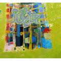 チェッカーフラッグ 194cmx259cm oil on canvas