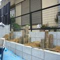 奈良県大和郡山市O様邸 造園・花壇植栽工事 枯山水風 施工事例 施工中