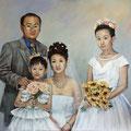 Chinesische Familie - Öl - 100 x 120cm / Das Bild hängt in Shanghai