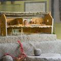 Макет - реконструкция жилища Трипольской культуры, Томашевской локальной группы. Ок. 3700 лет до н.э. Находится в экспозиции археологического музея, Б. Хмельницкого,15.