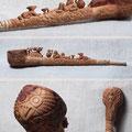 """Трубка """"Скифия"""". Груша, бук, лещина, черешня, уральский малахит. 34 см."""