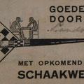 1936, Max Euwe werd wereldkampioen schaken, en dat was de aanleiding voor de 'schaakwedstrijd' pijpen