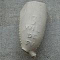 tekst 3 WIL DE PV. Merk PV is o.a. uit Gouda bekend, onbekend is waar deze pijp is gemaakt. Ca 1740-1780