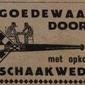 1936,Max Euwe werd wereldkampioen schaken, en dat was de aanleiding voor de 'schaakwedstrijd' pijpen