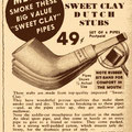 Advertentie uit 'Pipe Lore, a Gentleman's Magazine' Mei 1942, Wally Frank