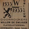 Deze advertentie serie werd reeds eind 1932 gestart