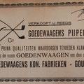 Verkoopt u reeds Goedewaagen's pijpen, 1929