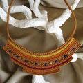 """collana in macramè """"CLEOPATRA"""" 1 - cotone, perle di vetro - venduta"""