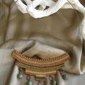 """collana in macramè """"CLEOPATRA"""" 5 - cotone, perle di vetro"""