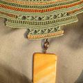 """collana in macramè """"CLEOPATRA"""" 7 - cotone, rame, perla di vetro"""