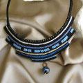 """collana in macramè """"CLEOPATRA"""" 4 - cotone, perla di vetro"""