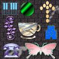 Aufgabenstellung: lege 8 verschiedenen Formen im 2D-oder 3D-Modus aus und wendest die Trickkiste an