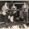 Johnny & his Cellar Rockers 1961 - Jan Burgers (slag), Pierre v.d. Linden (drums), Jan Akkerman (solo) en Cor Engelsma (bas)