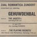 Zaal Romantica, Zundert, The Playing Rockets (Dagblad de Stem 20 mei 1977)