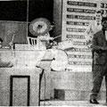 JOHN RUSSELL & THE CELLAR ROCKERS (VARA -TV 25 juni 1961) vlnr: jury - Hans Kuyt - Pierre van der Linden - Jan Akkerman - John Russell - Jan Burgers