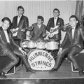 THE HURRICANE STRINGS with drummer Hans de Wekker (Crailsheim, Jan. 1963)