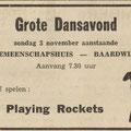 THE PLAYING ROCKETS: De Echo van het Zuiden 1 november 1963
