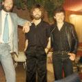 Drie sologitaristen op een plaatje in Poortugaal (6 mei 1978) vlnr: Bart Strik - René Nodelijk - Cees van de Leur